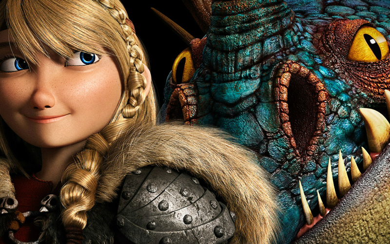 How to train your dragon 2 - Astrid and Stormfly